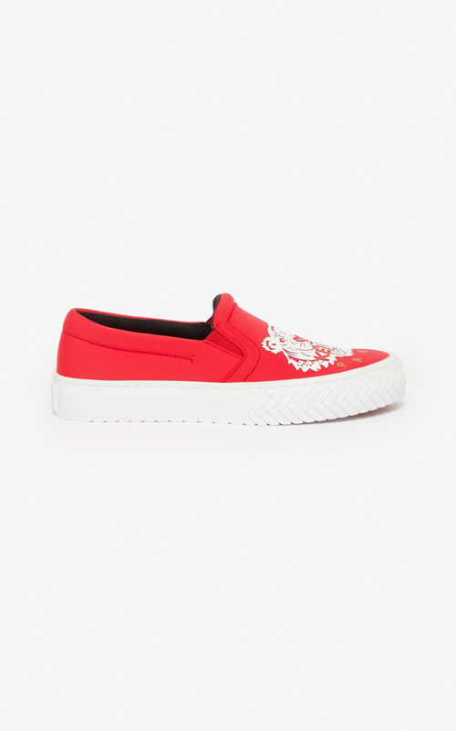 MEDIUM RED 'Chinese New Year Capsule' K-Skate slip-ons for women KENZO