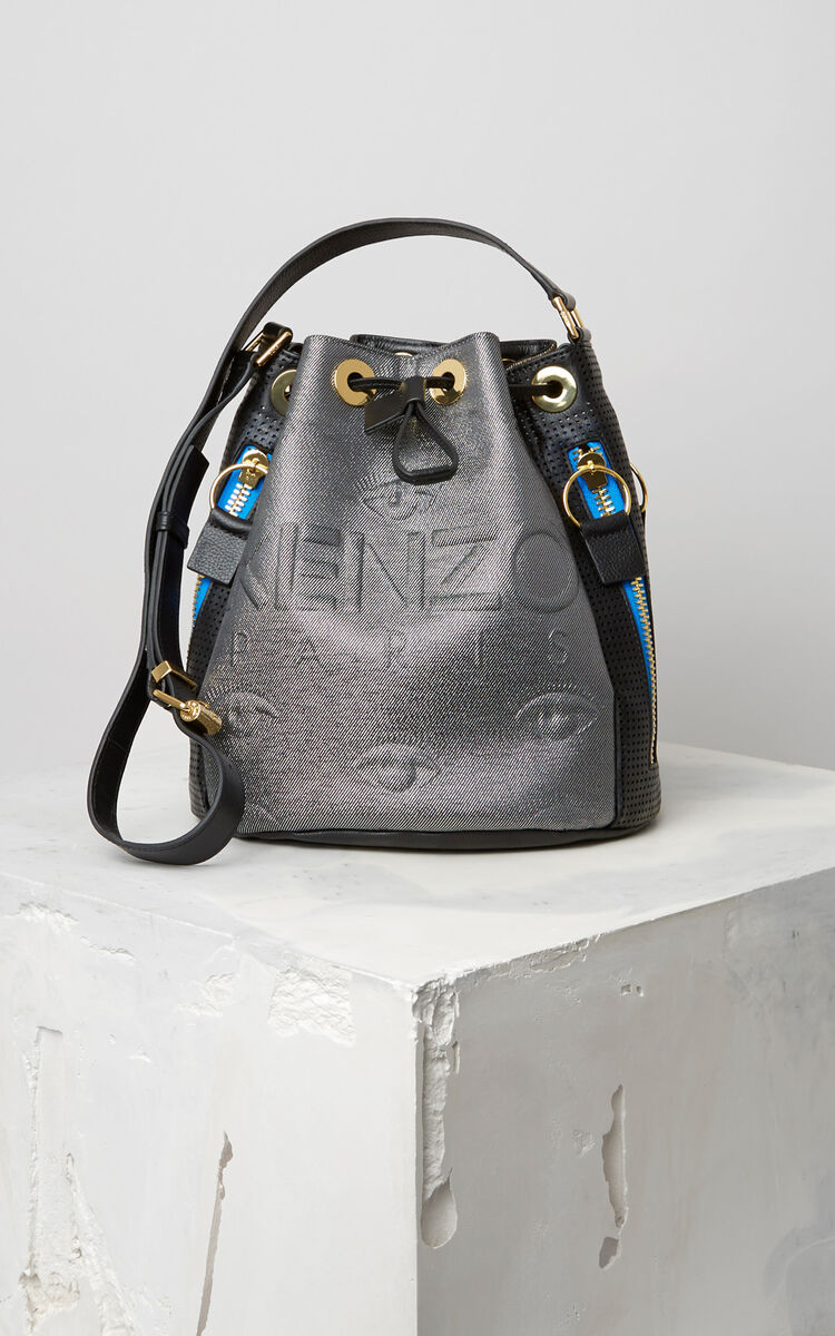 SILVER KENZO Kombo Bucket Bag for women