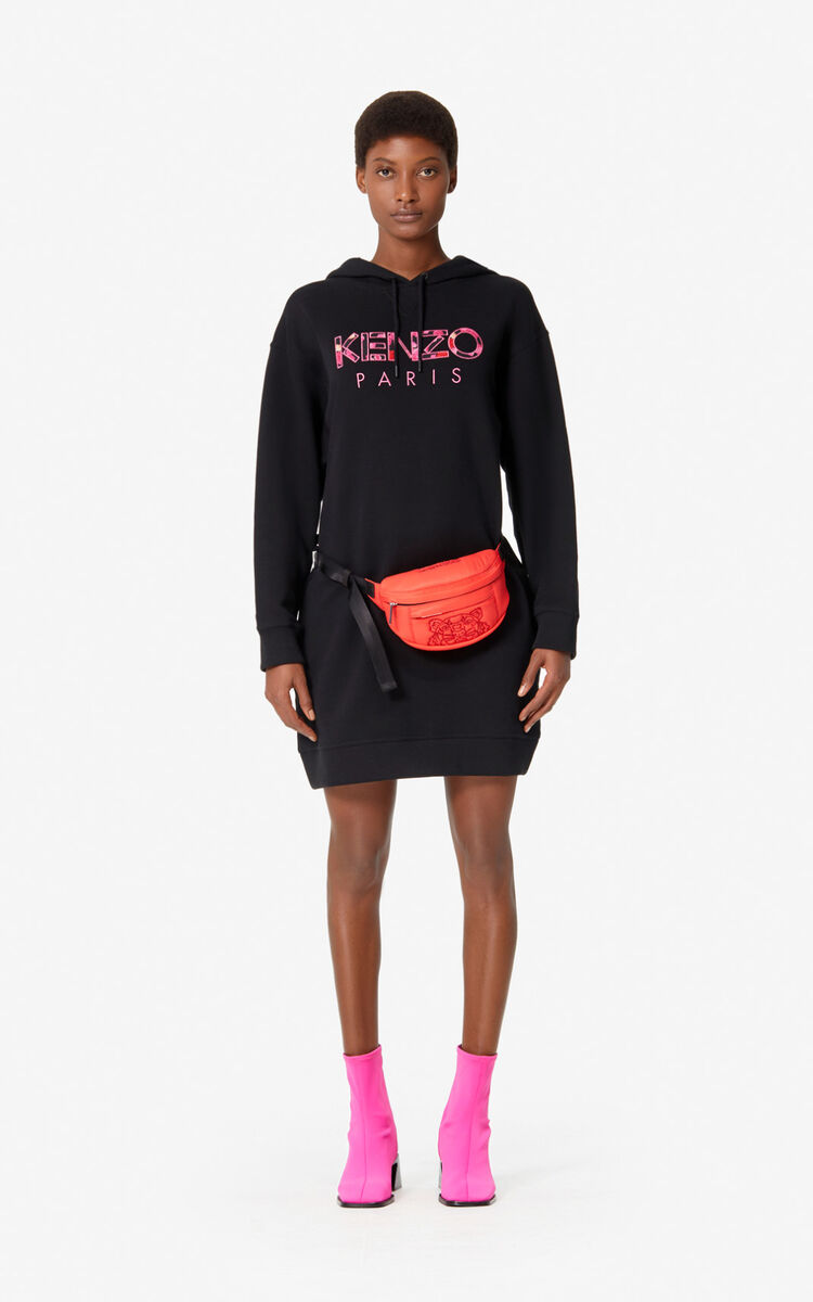 BLACK KENZO Paris 'Peony' sweatshirt dress for men