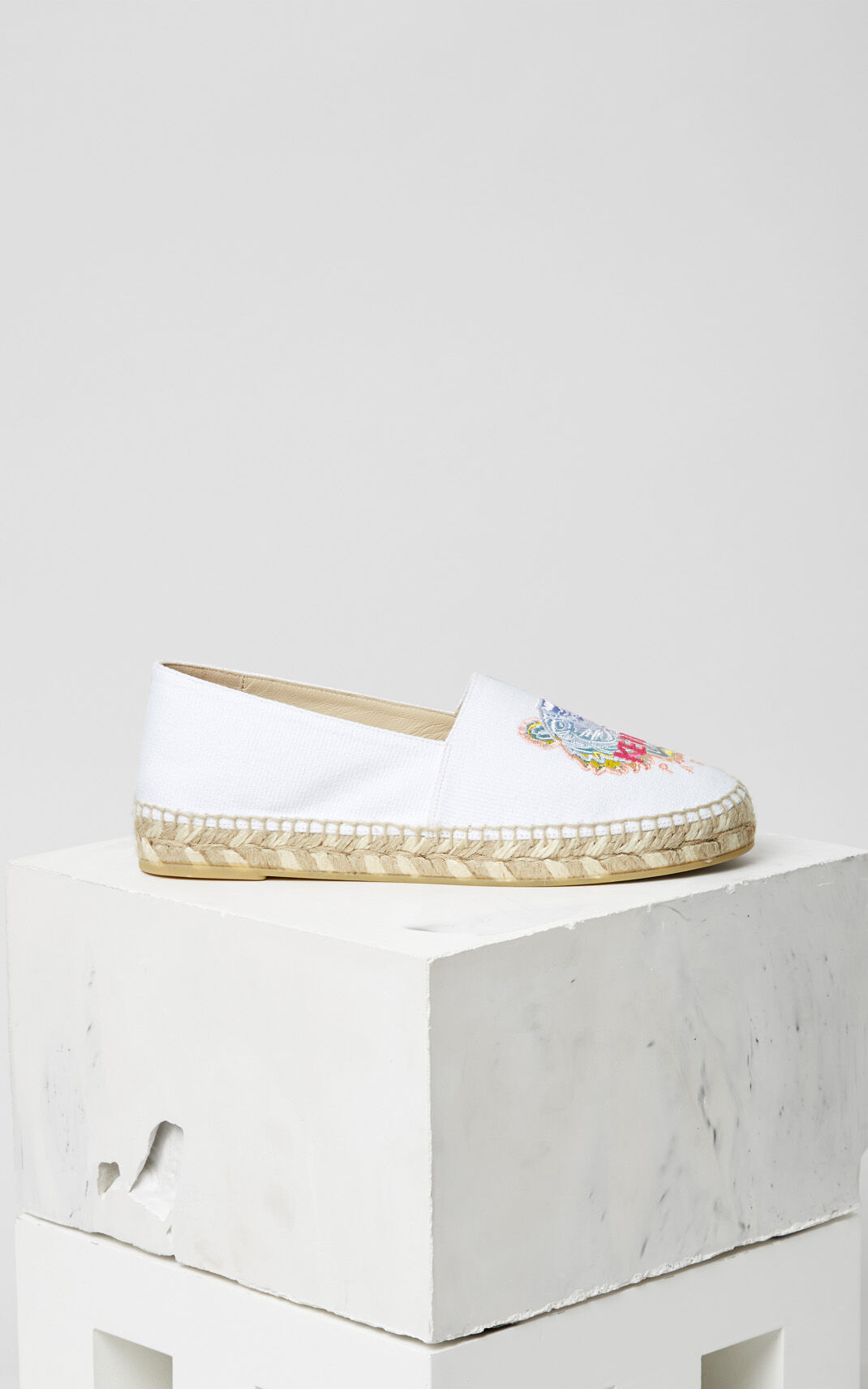 WHITE 'Rainbow' Tiger Espadrilles for women KENZO