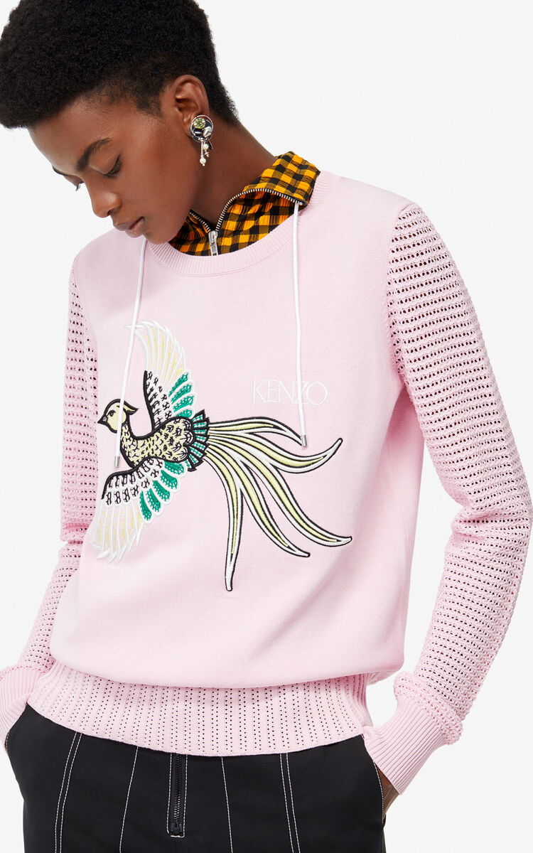 PASTEL PINK 'Phoenix' jumper for women KENZO