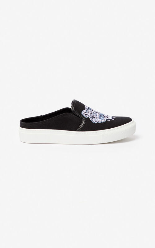 BLACK K-Skate Tiger slip-on mules for unisex KENZO