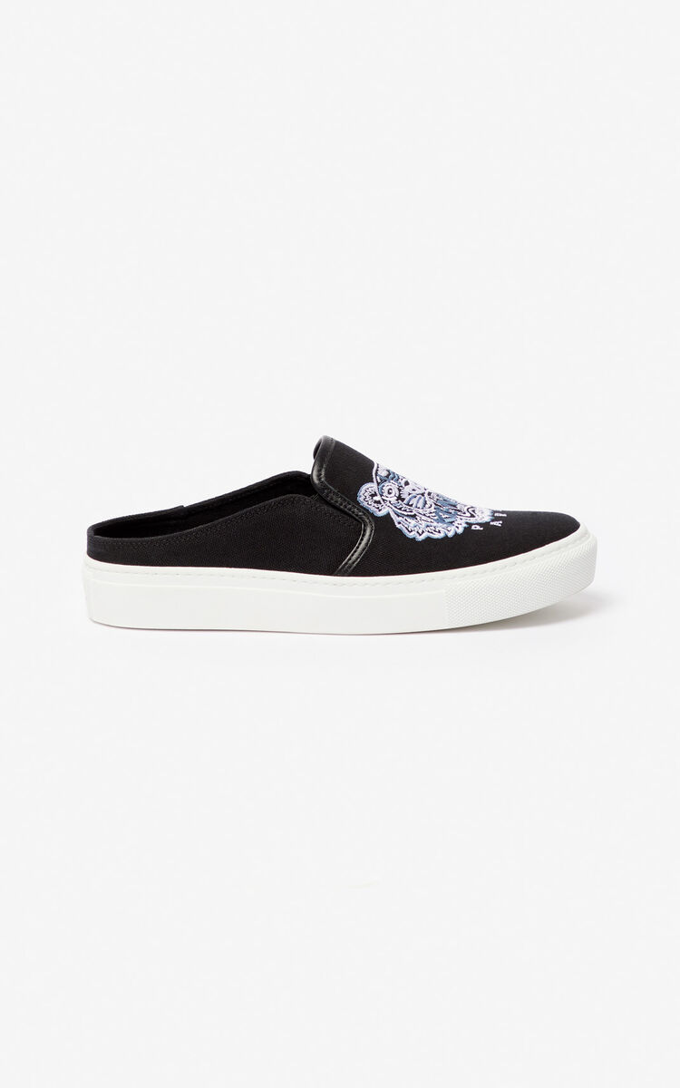 BLACK K-Skate Tiger slip-on mules for women KENZO