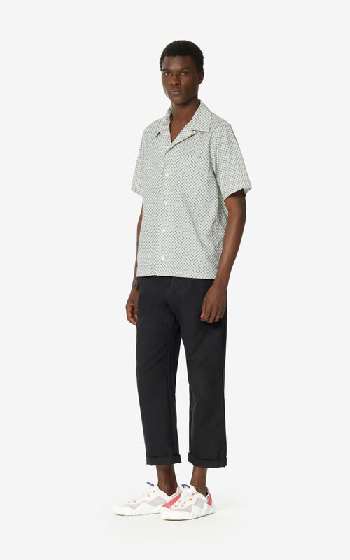 BLACK Straight-cut trousers for men KENZO