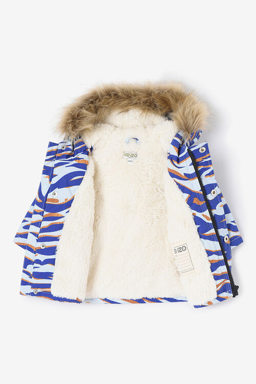 SKY BLUE Parka Tiger Stripes for men KENZO