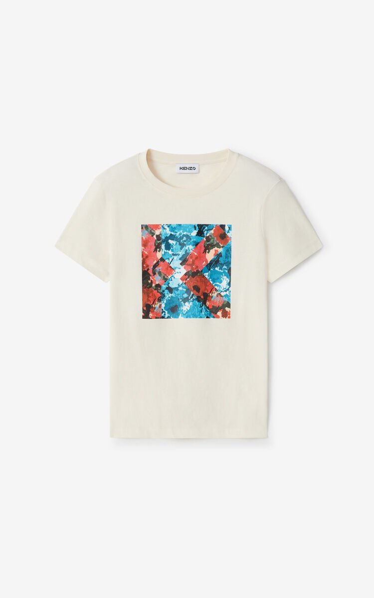 ECRU 'Aquarelle K' T-shirt for women KENZO