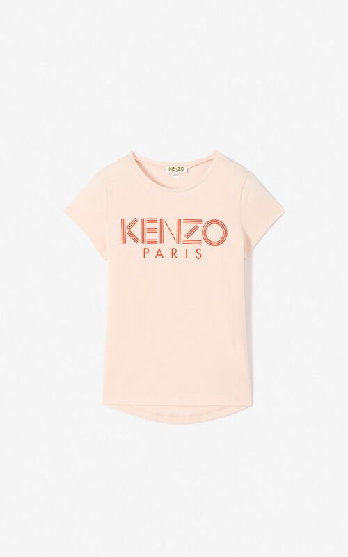 54ab4c0f4894 FADED PINK KENZO logo T-shirt for men ...