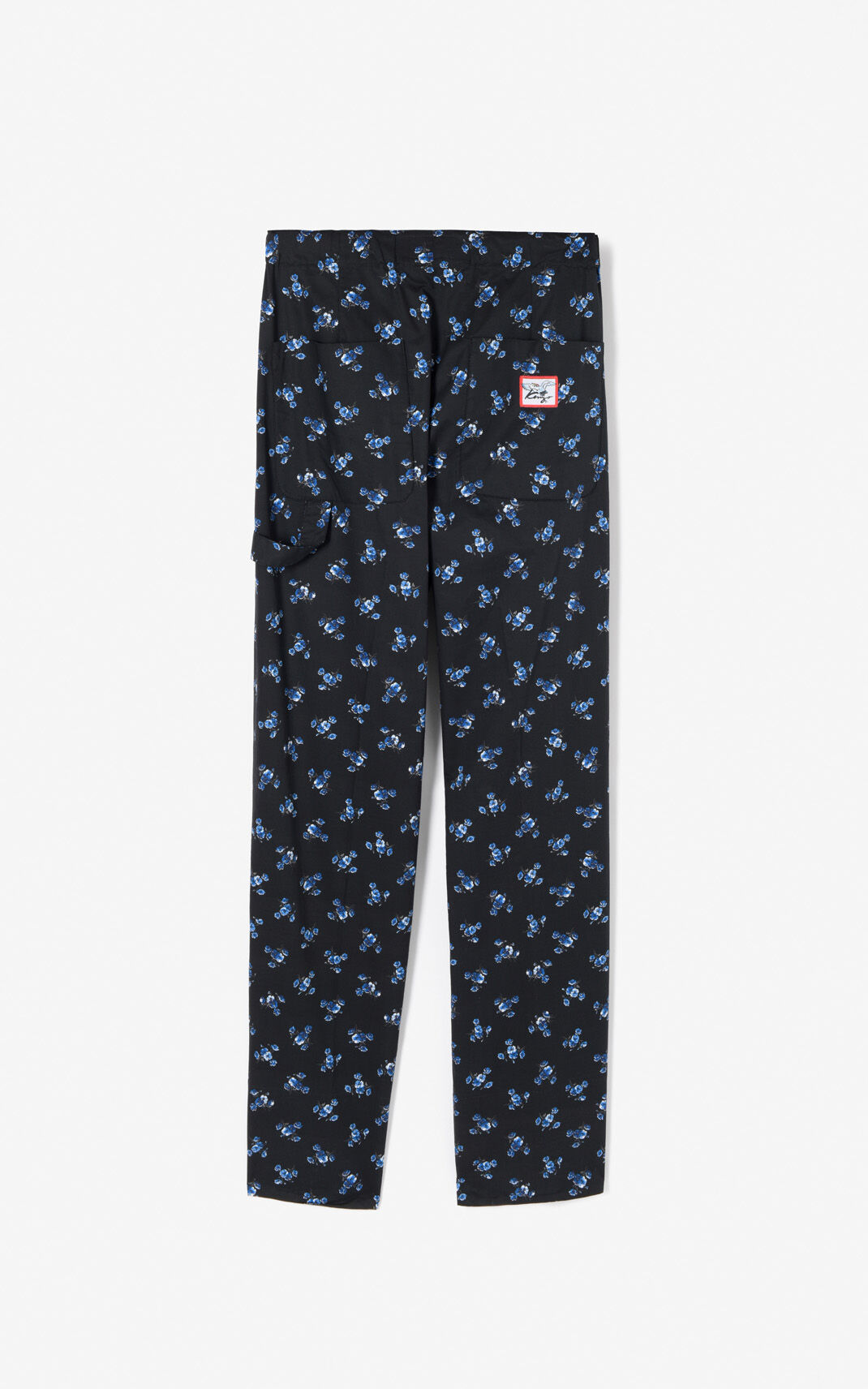BLACK 'May Flowers' Pants for men KENZO