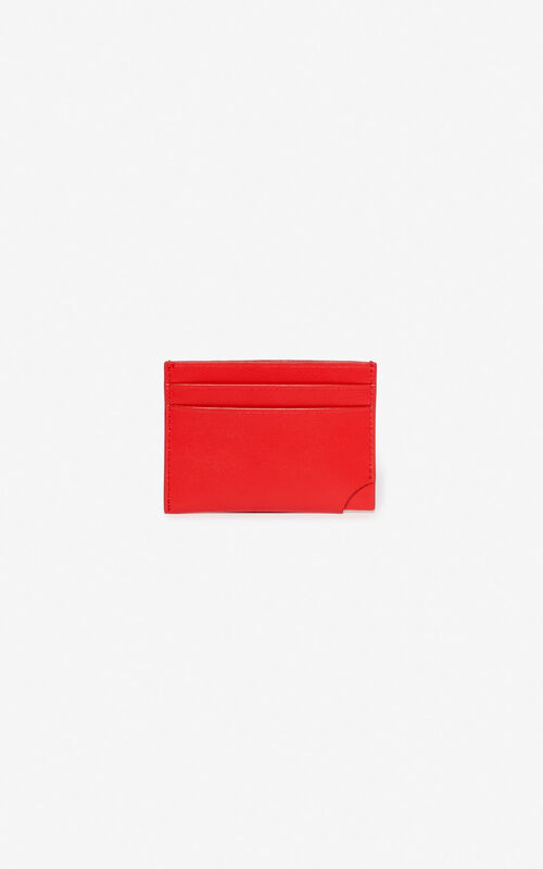MEDIUM RED 'Jumping Tiger' card holder for unisex KENZO