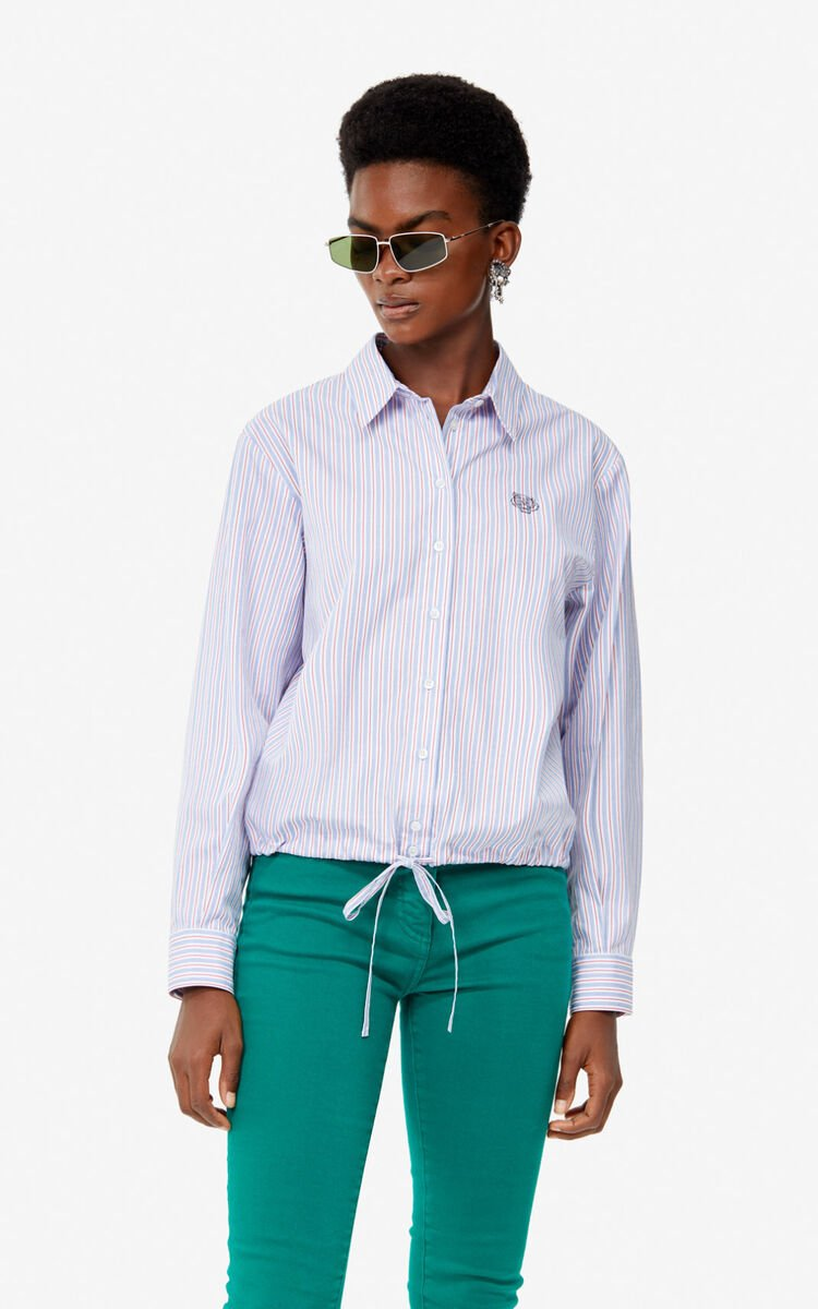 FRENCH BLUE Striped Tiger shirt for women KENZO
