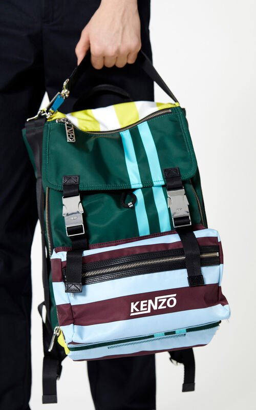 PINE Large striped 'Hyper KENZO' backpack for women