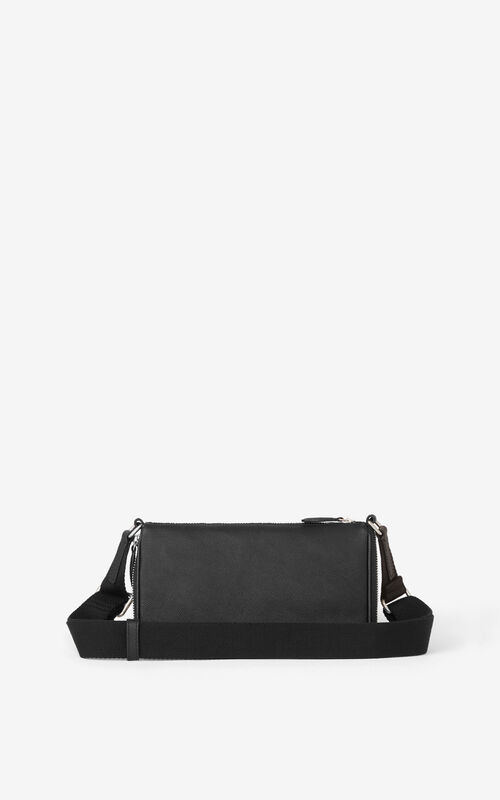 BLACK Small KENZO Kompact grained leather shoulder bag for unisex
