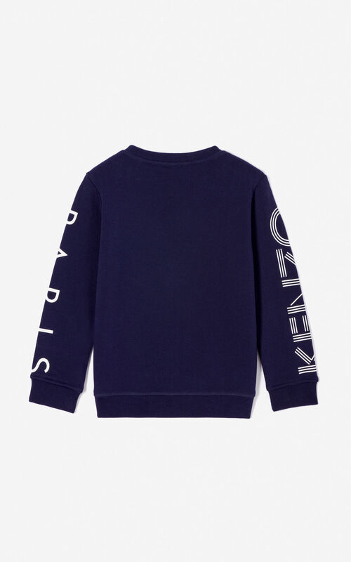 NAVY BLUE KENZO Logo sweatshirt for women