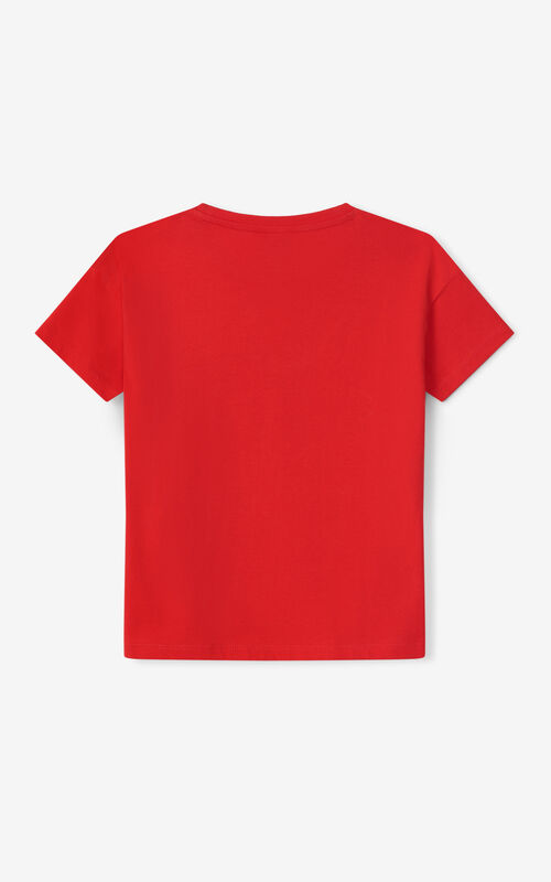 MEDIUM RED Tiger T-shirt for unisex KENZO