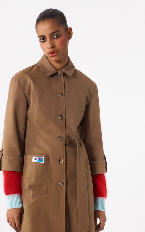 DARK BEIGE Military Dress for women KENZO