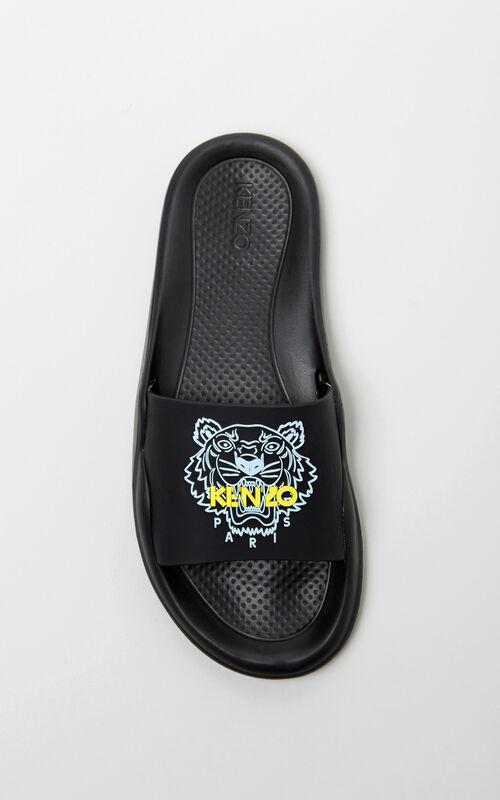 BLACK Tiger sandals for women KENZO