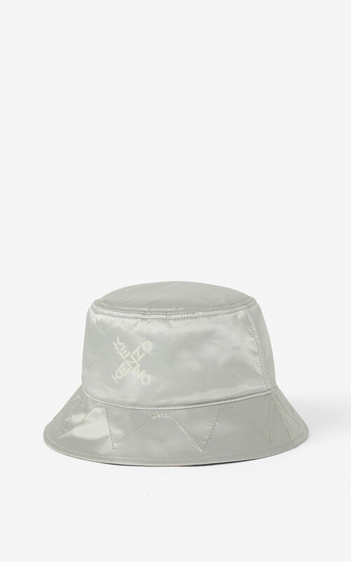 PALE GREY KENZO Sport 'Little X' reversible sun hat for unisex