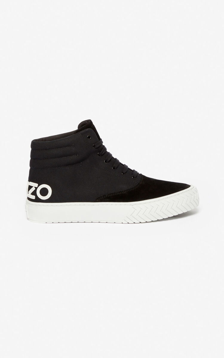 BLACK K-Skate high-top sneakers for unisex KENZO