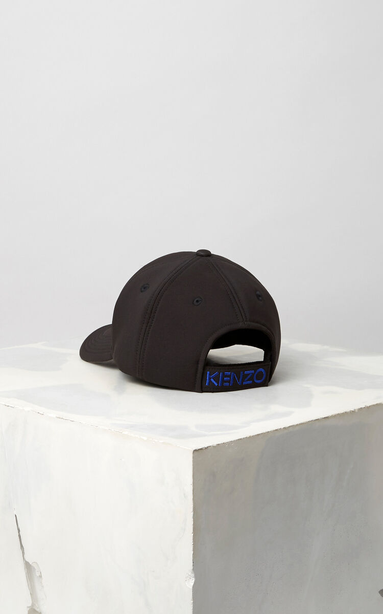 BLACK Neoprene Tiger cap for unisex KENZO