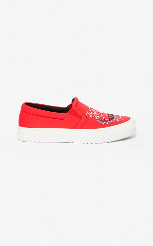 MEDIUM RED K-Skate Tiger slip-on shoes for unisex KENZO
