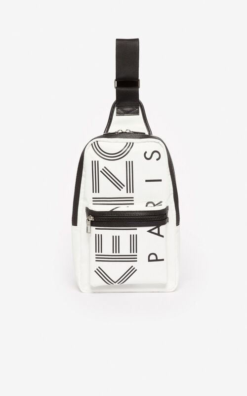 OFF WHITE 'Crew' KENZO logo cross-body bag for unisex