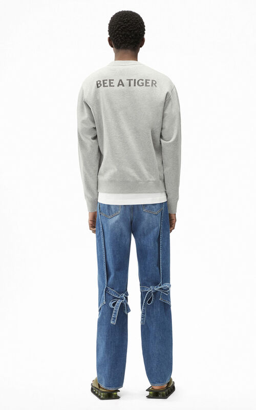 PEARL GREY 'Bee a Tiger' sweatshirt for men KENZO