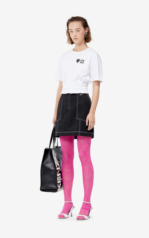 BLACK Structured mini skirt for women KENZO