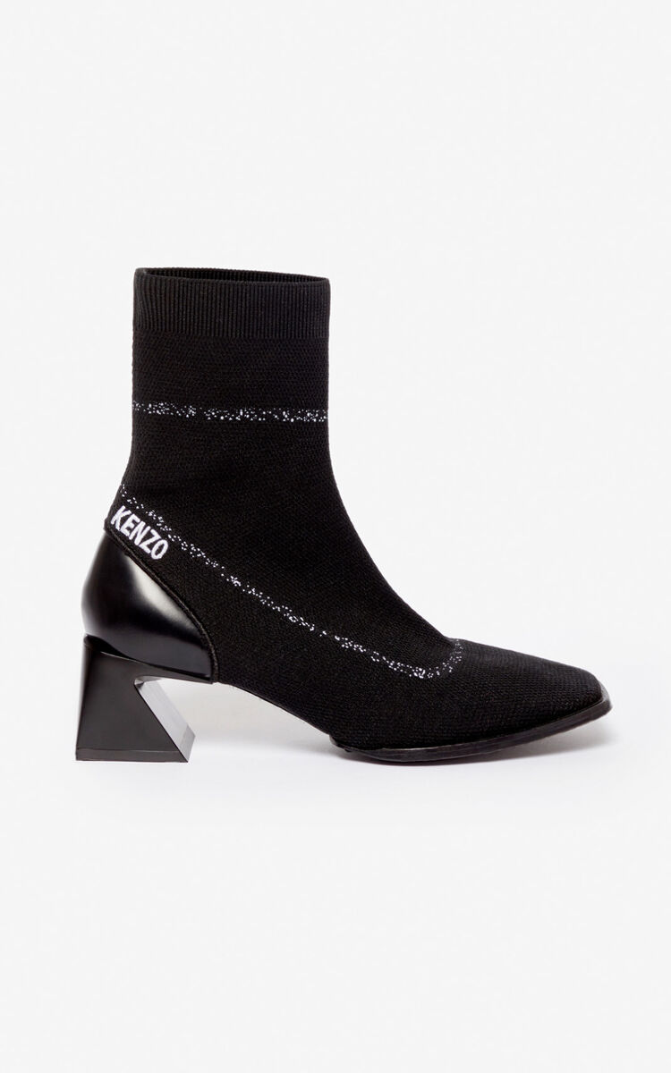 BLACK 'K-Square' ankle boots for women KENZO
