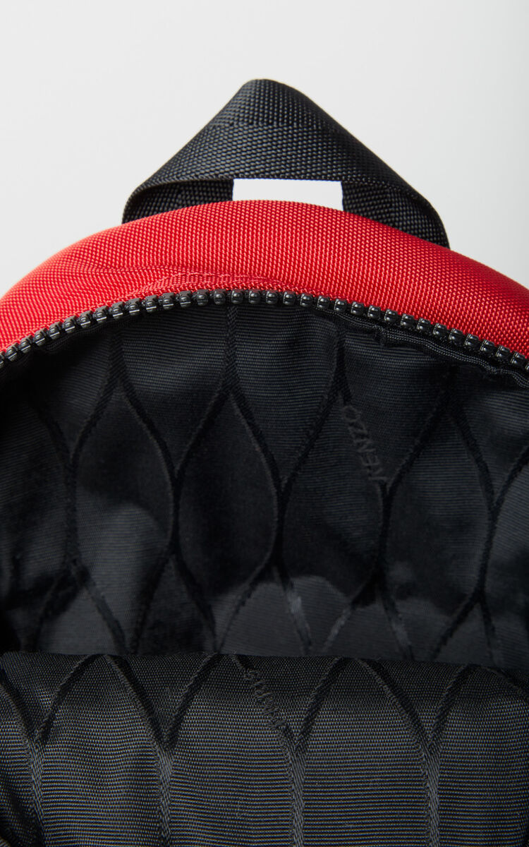 MEDIUM RED Mini Tiger Canvas backpack  for unisex KENZO