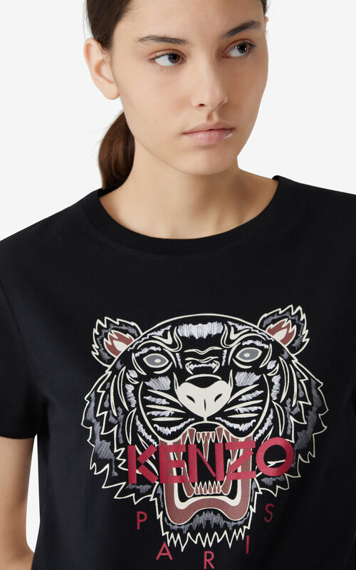 BLACK Tiger T-shirt for women KENZO