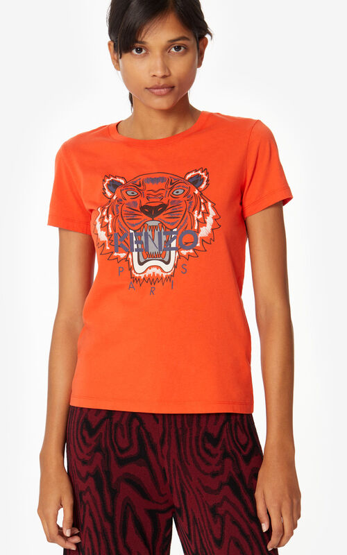 MEDIUM ORANGE Tiger T-shirt for women KENZO
