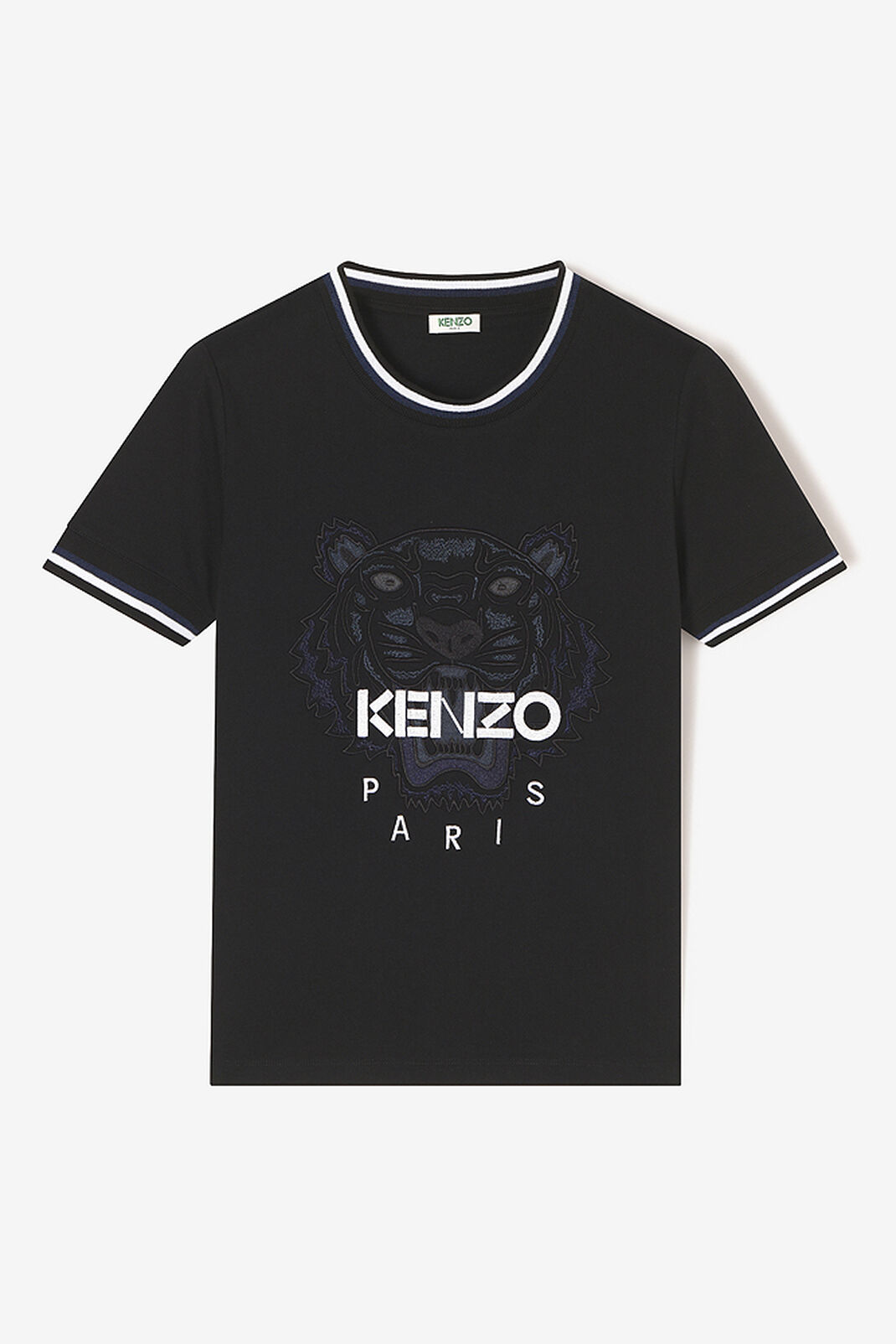 BLACK Embroidered Tiger t-shirt for women KENZO