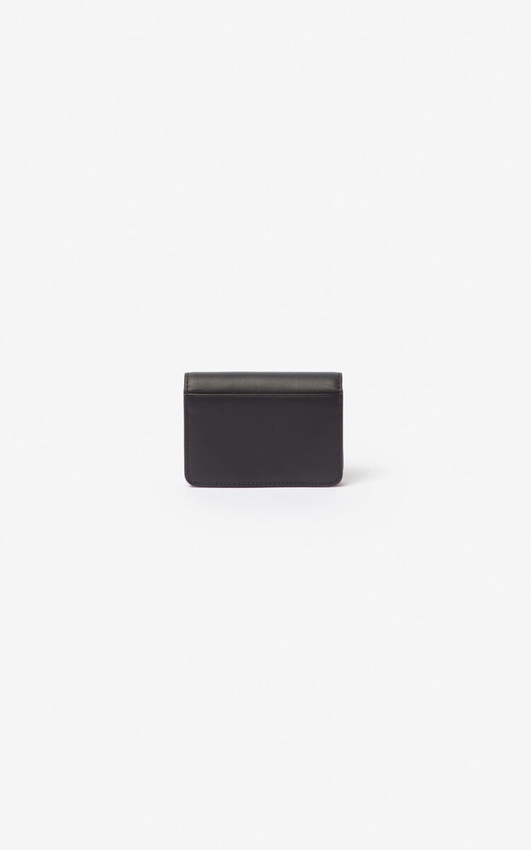 BLACK K-Bag leather coin purse for men KENZO