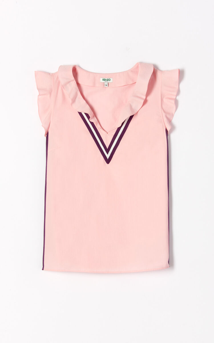 PASTEL PINK 'High Summer Capsule Collection' frilly top for women KENZO