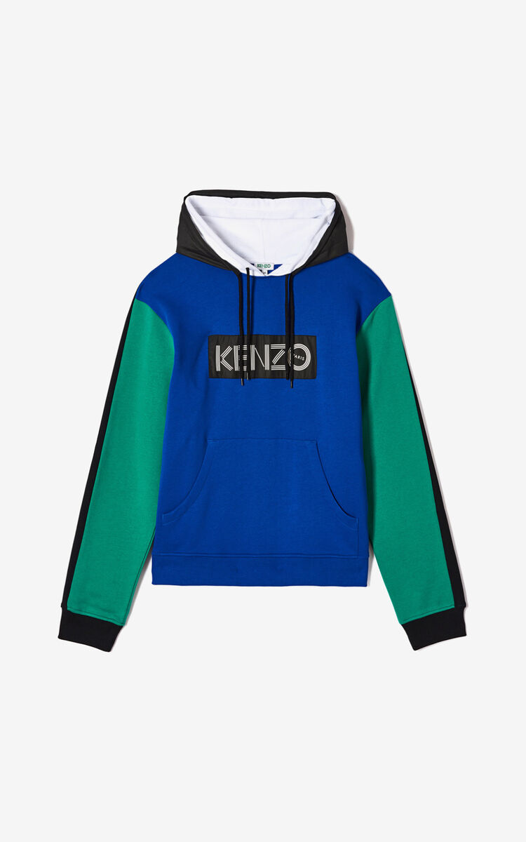 FRENCH BLUE KENZO logo colorblock sweatshirt for women