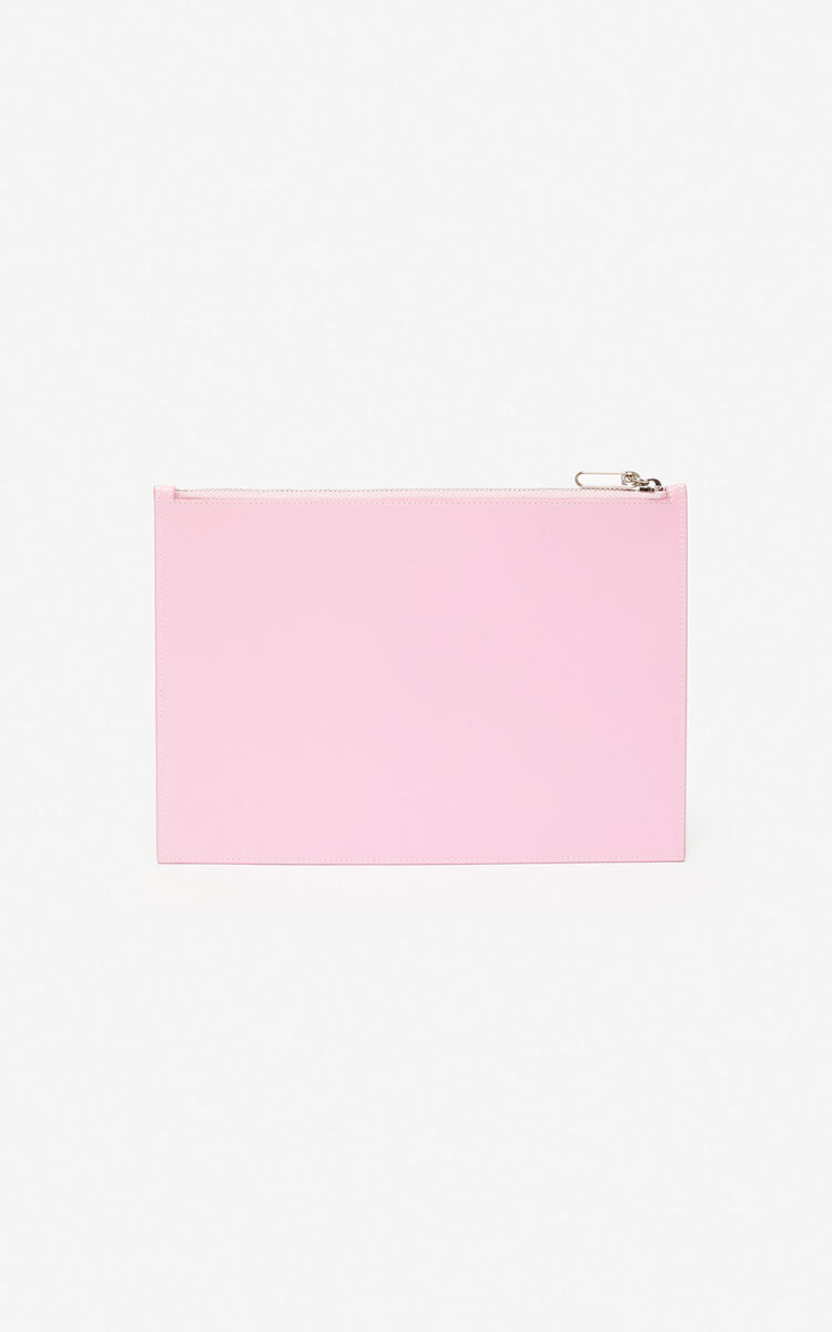 FLAMINGO PINK A4 'Cupid' pouch 'Capsule Back from Holidays' for unisex KENZO