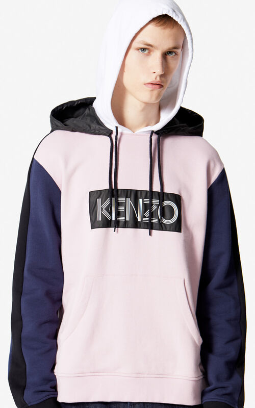 PASTEL PINK KENZO Logo Colour Block Sweatshirt for men