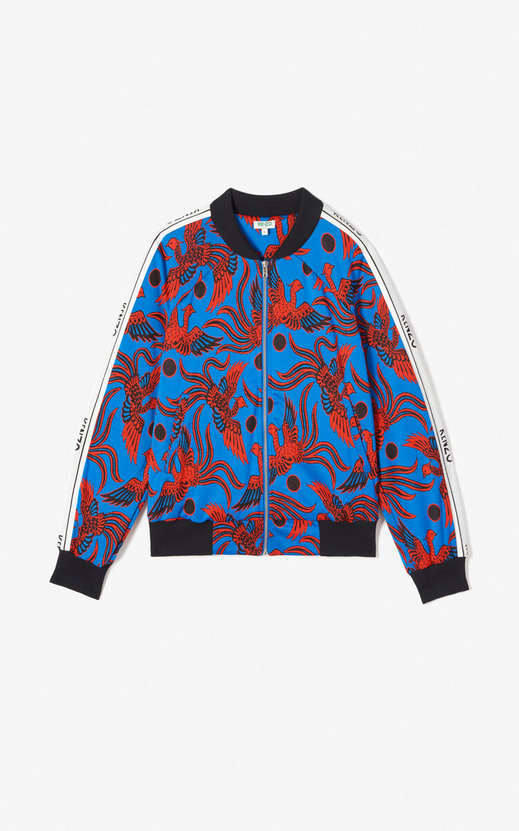 COBALT Jacquard 'Flying Phoenix' jacket for women KENZO