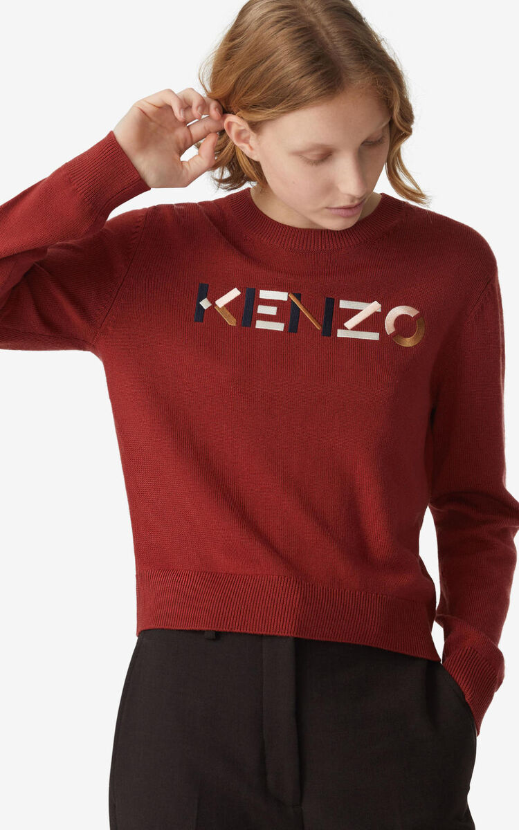 PEACH KENZO Logo multicoloured jumper for women