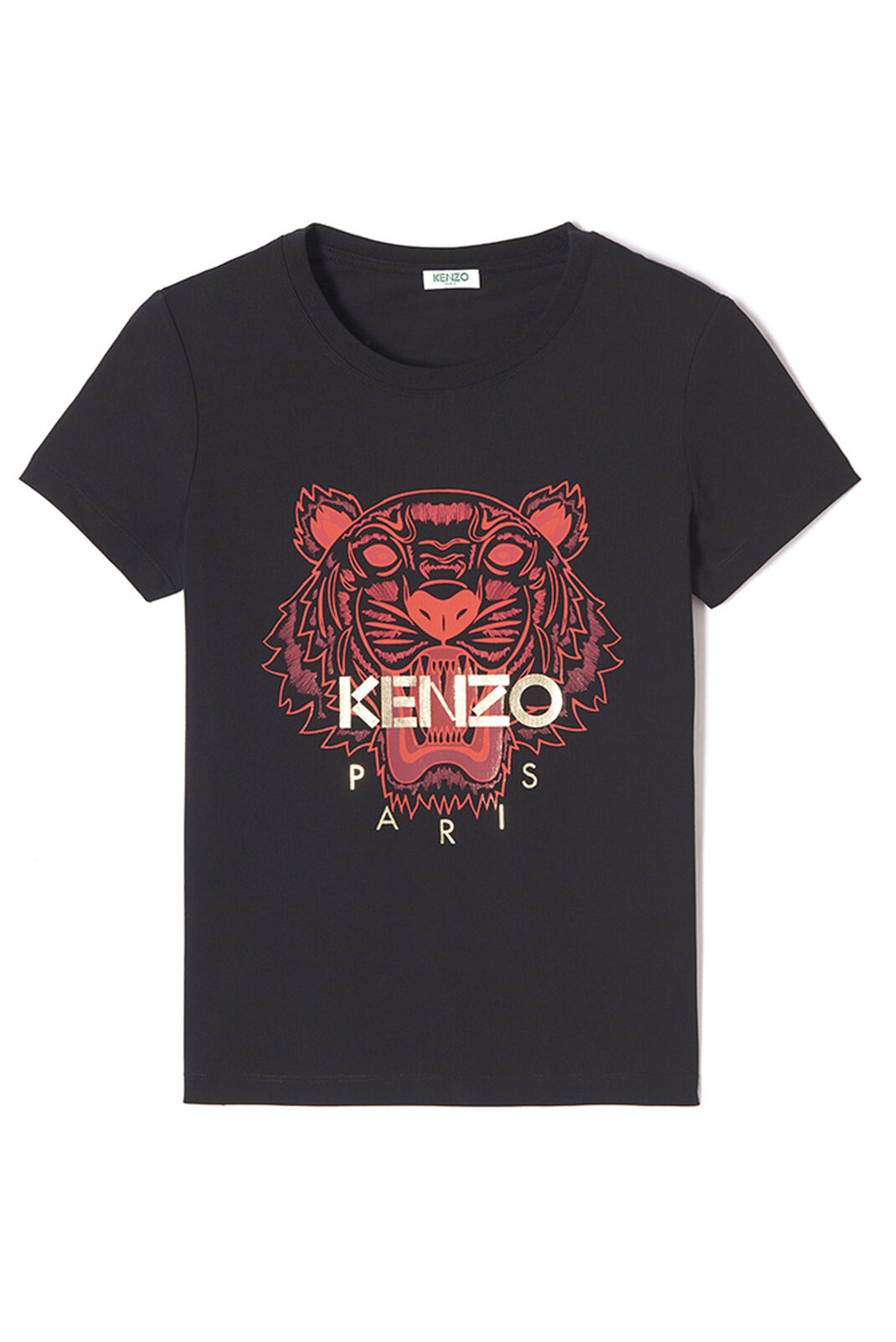 BLACK 'Chinese NY Capsule Collection' Tiger T-shirt for women KENZO