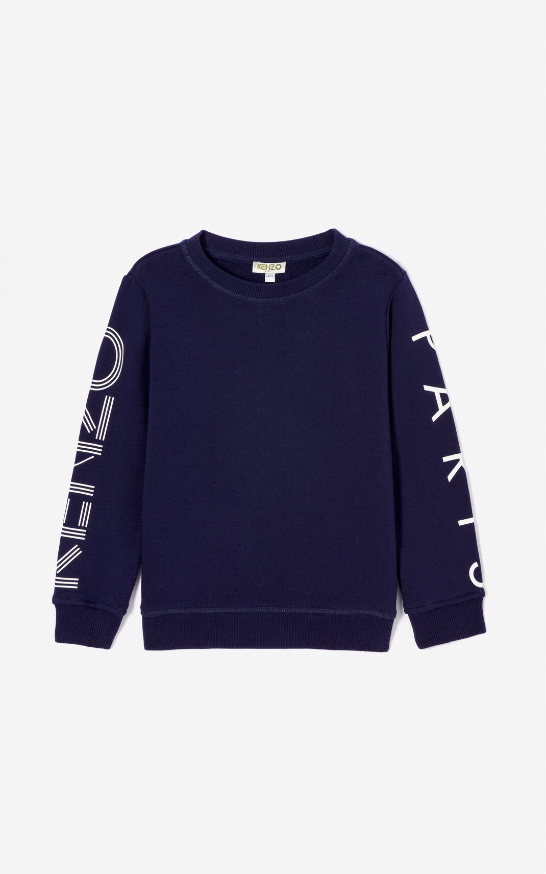 NAVY BLUE KENZO Logo sweatshirt for men