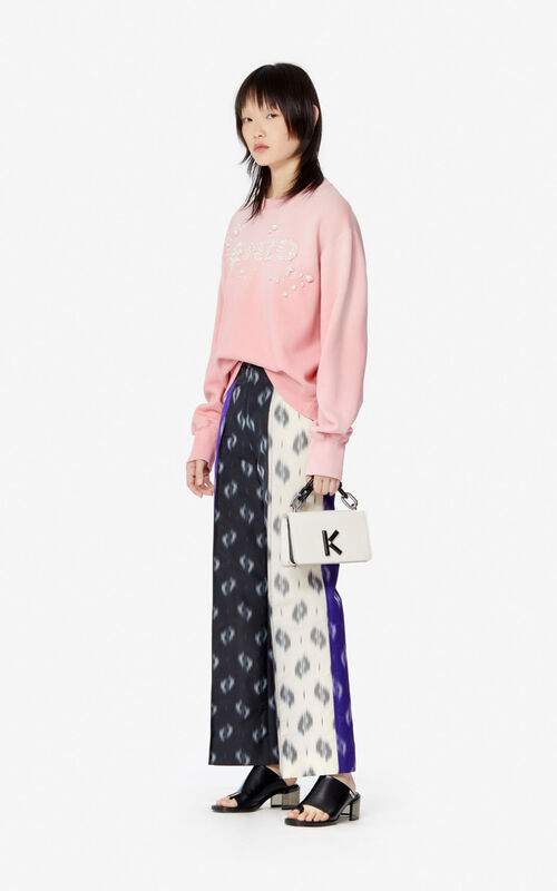 FLAMINGO PINK Beaded KENZO sweatshirt for women