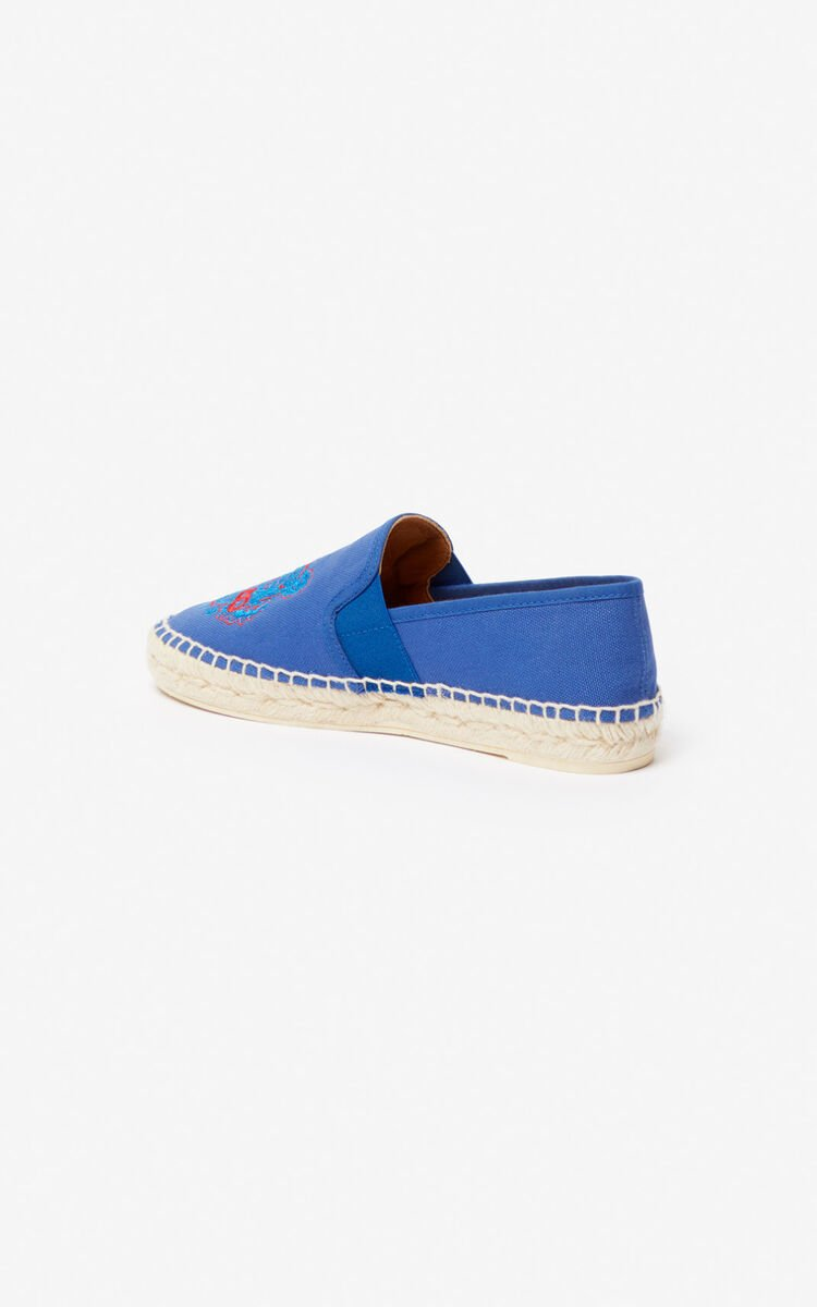 SLATE BLUE Tiger elasticated espadrilles for unisex KENZO