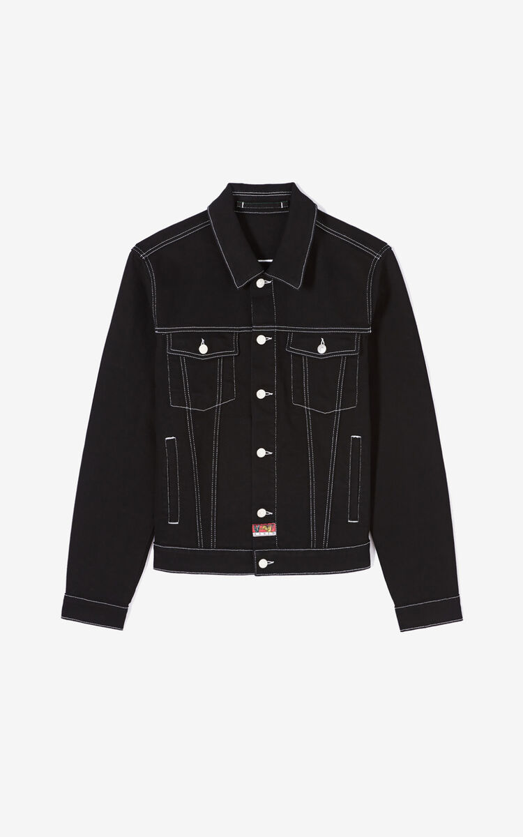 BLACK Denim jacket for men KENZO