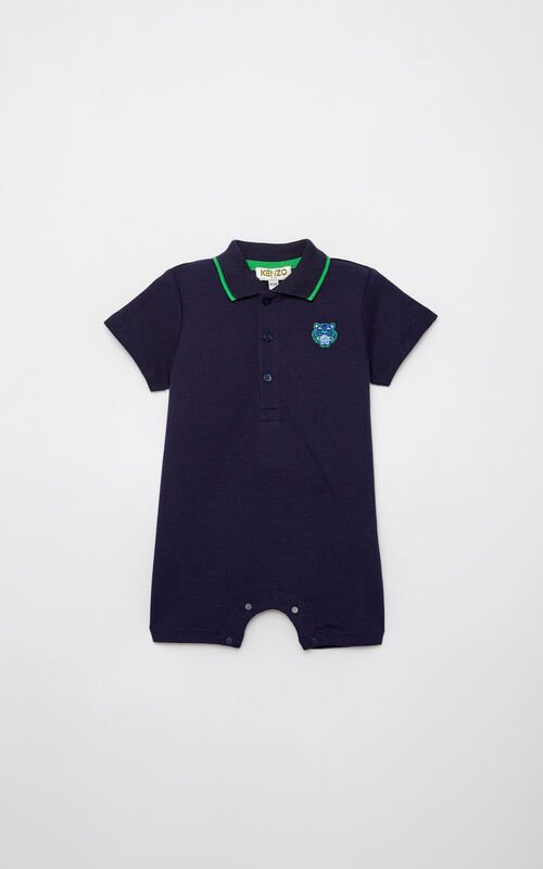 NAVY BLUE Polo shirt romper for men KENZO