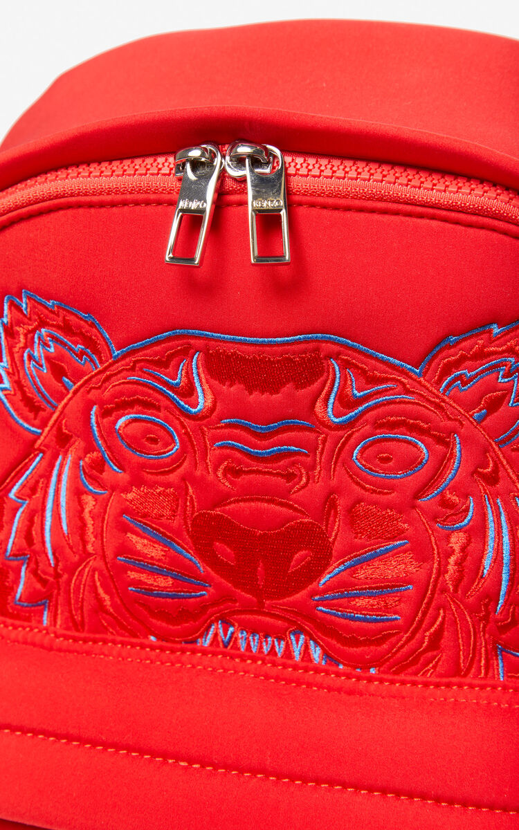 MEDIUM RED Large Neoprene Tiger backpack for women KENZO