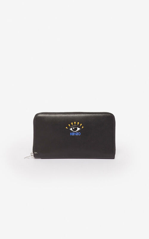 BLACK Eye wallet for unisex KENZO