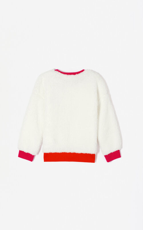 WHITE 'Frozen' sweatshirt for women KENZO