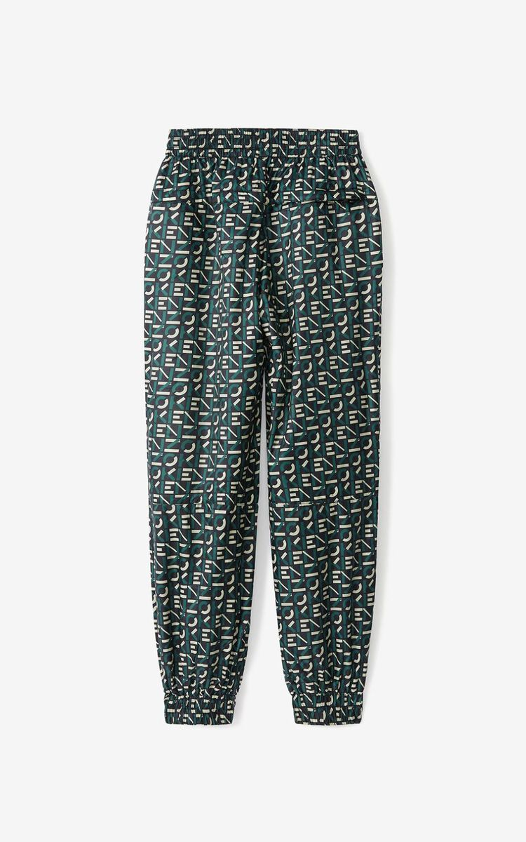 GREEN KENZO Sport monogrammed joggers for men