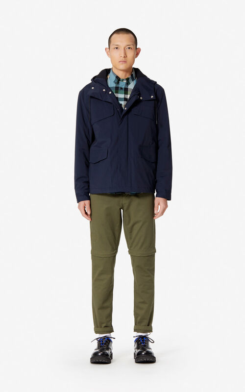 NAVY BLUE KENZO Paris parka for men